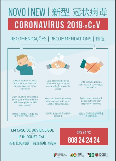 Importante! Novo Coronavírus, COVID-19.